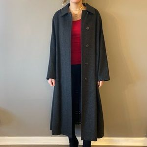 Burberry dark grey trench coat